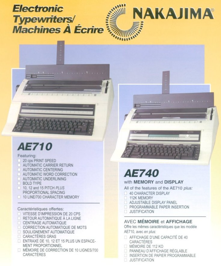 ABM, Accurate Business Machines, The Typewriter Guy, Featuring Nakajima Typewriters